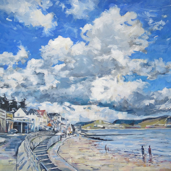 Lyme Regis, Approaching Storm.  Oil on canvas.